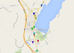 Maps of Lake George Hotels (small)