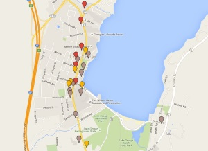 Maps of Lake George Restaurants (small)