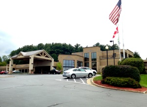 Front of Holiday Inn Resort Lake George